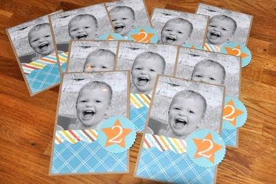Scraps by Marianne: uitnodigingen Sam's 2e verjaardag