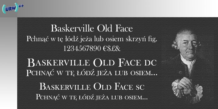 baskerville old face I have this font and it looks good - also has nice Q - alternative for a curly font