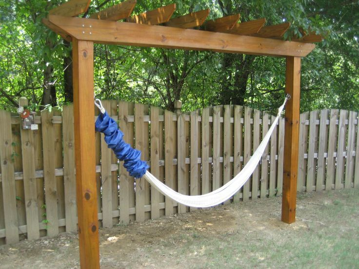 Need a hammock but don't have trees to hang it on? Then this project is for you! Learn how to make your own hammock stand by ... pinned with Pinvolve - pinvolve.co