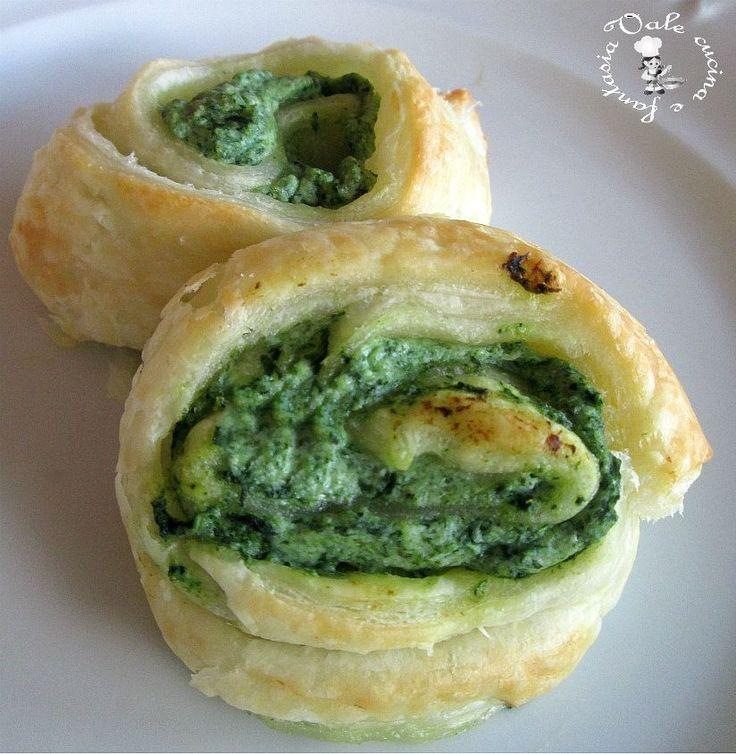 Girelle con ricotta e spinaci,ricetta veloce facilissime e molto gustose basta davvero poco e pochi ingredienti per avere un'antipasto sfizioso