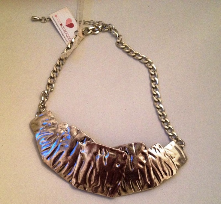 Maxi colar com placas prata R$50.00Prata R 50 00, Maxis Necklace, Dona Dominga, Placas Prata