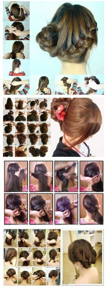 **~Zibees.com~** Fashion Guilt DIY/Tips!!: Cute bobs, Curly hair, Braids, updos PICTURE TUTORIAL DIY how to #3