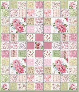 Totally Shabby Pink Roses Quilt Kit