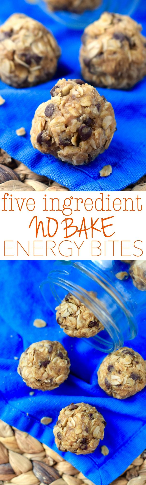 These Five Ingredient No Bake Energy Bites are easy to throw together and make such a perfect snack! (Vegan Easy Energy Bites)