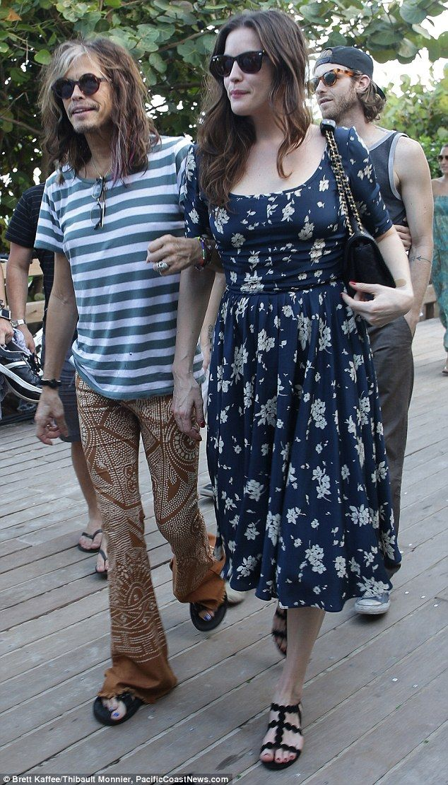 Steven Tyler spends the day in Miami with daughters Liv (pictured), Chelsea and Mia