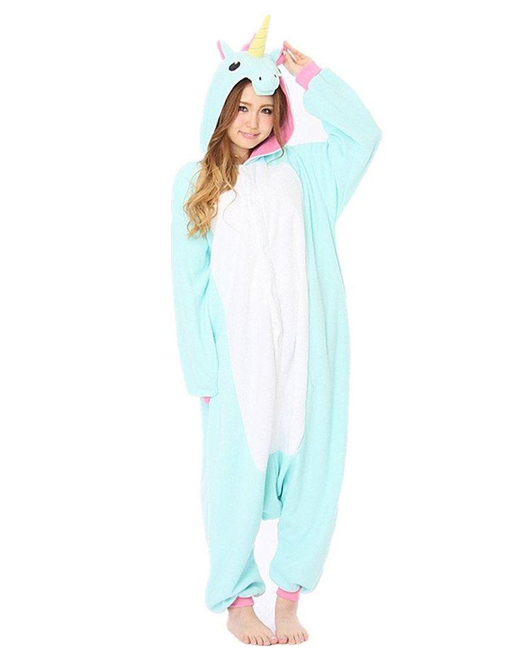 SAMGU Einhorn Adult Pyjama Cosplay Tier Onesie Body Nachtwäsche Kleid overall Animal Sleepwear Erwachsene: Amazon.de: Bekleidung