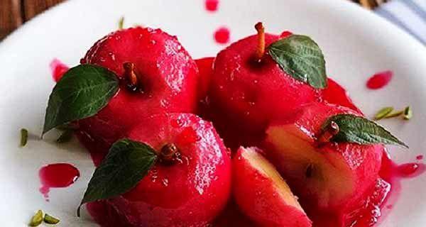 طرز تهیه دسر سیب Food Desserts Fruit