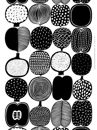 Marimekko fabric Vatruska white/black http://www.shannon-uk.com/product/2882/Marimekko/MarimekkoFabric#tab