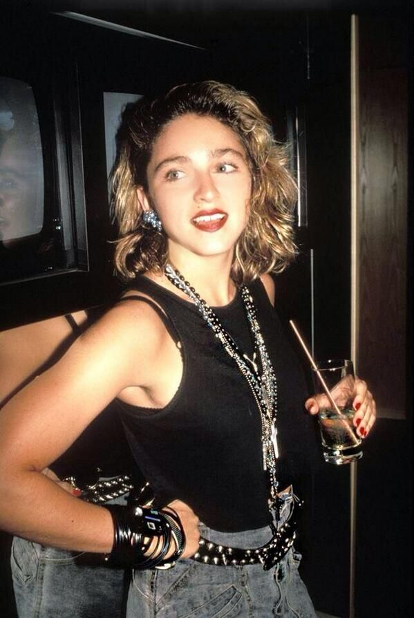 "madonna is a big inspiration to me bc she screams ""you don't have to wax your eyebrows to be pretty"""