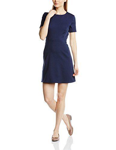 41630001bf1a Benetton 4i2wsv544 - Robe SmallManches courtes - Femme - Bleu - Medium  (Taille fabricant
