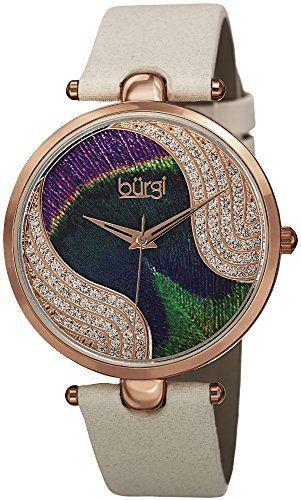 Rosamaria G Frangini | High Whatch Jewellery | Burgi Women's Analog Display Swiss Quartz Beige Watch