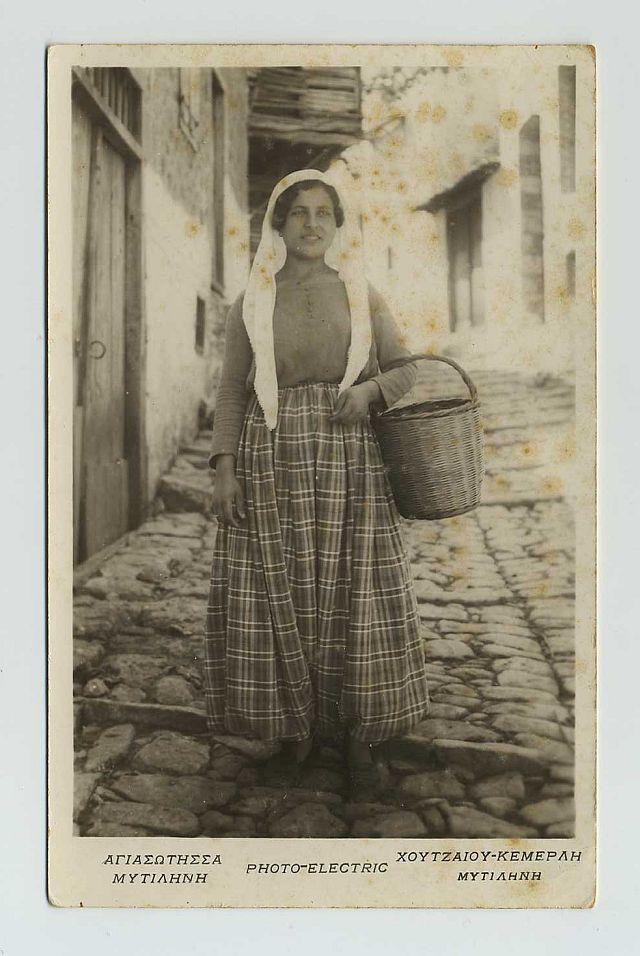 RPPC Greece Foreign Postcard Mytiahnh Native Greek Woman Folk Costume ZZ9236 | eBay