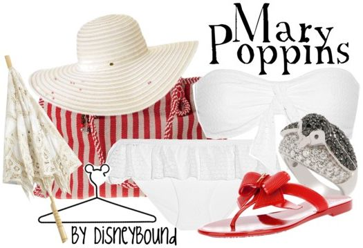 Mary Poppins @ the beach  #DisneyBound