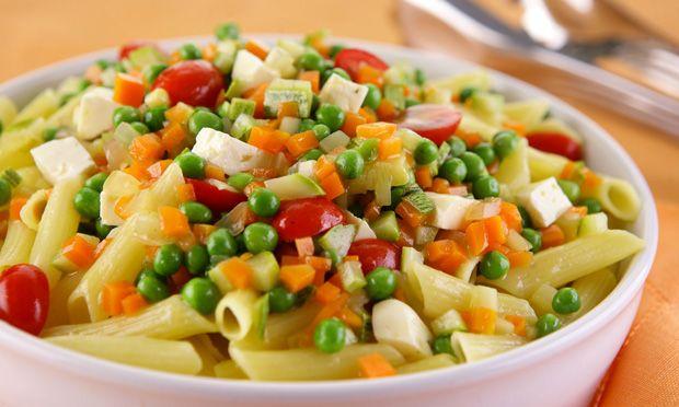 Receita de Penne aromático com legumes e queijo - Massa - Dificuldade: Fácil - Calorias: 333 por porção