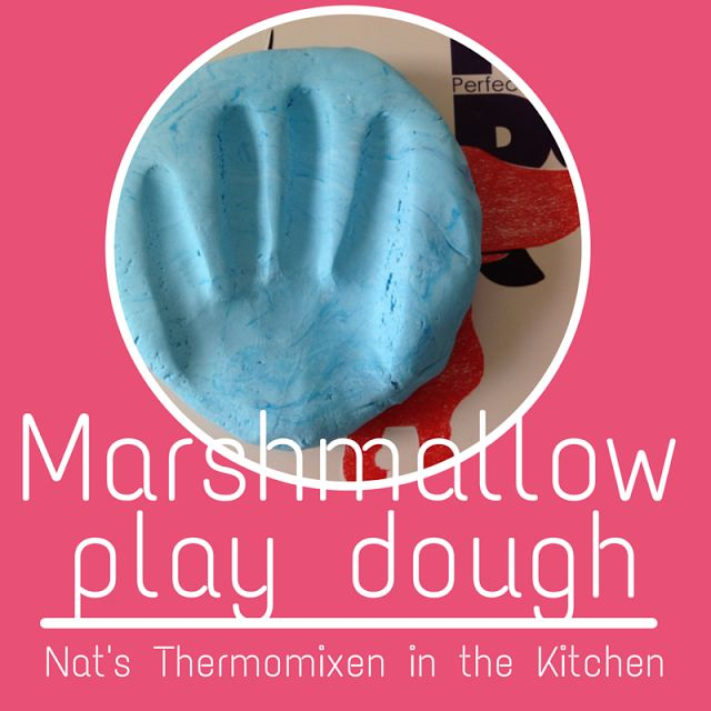 """The girls are calling this """"Marshmallow play dough""""...softer than playdough. I found this idea somewhere..."""