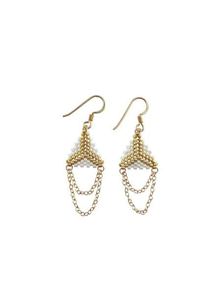 Indian Earrings Off White Gold | Ditte Maigaard Studio