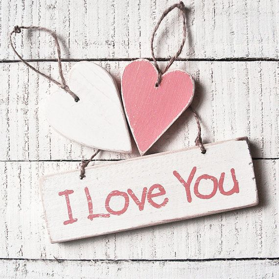 Love Wedding Sign And Hearts  I Love You by UtopiaHomeAndGarden, £15.00
