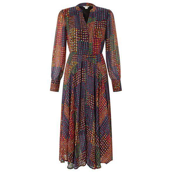 82fd73b8524e Monsoon Black  selena  spot print midi dress
