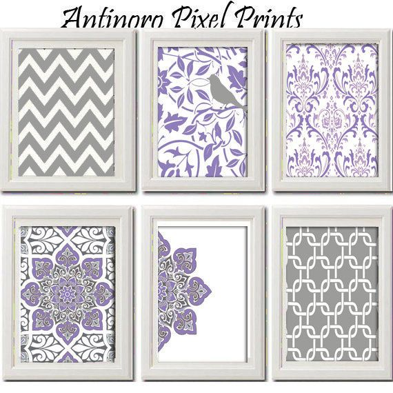19 Collection Of Purple And Grey Wall Art: 25+ Best Ideas About Purple Grey On Pinterest
