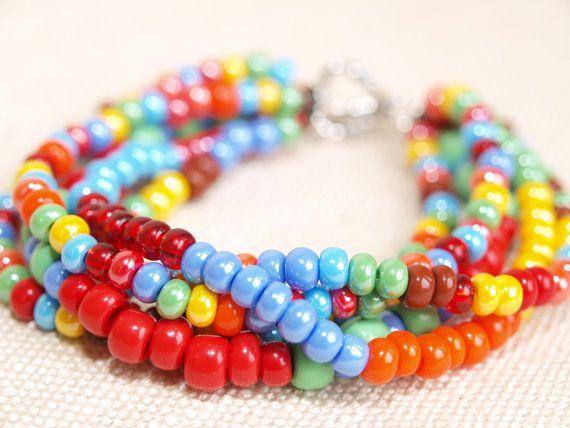 Rainbow jewelry by WEcraft on Etsy