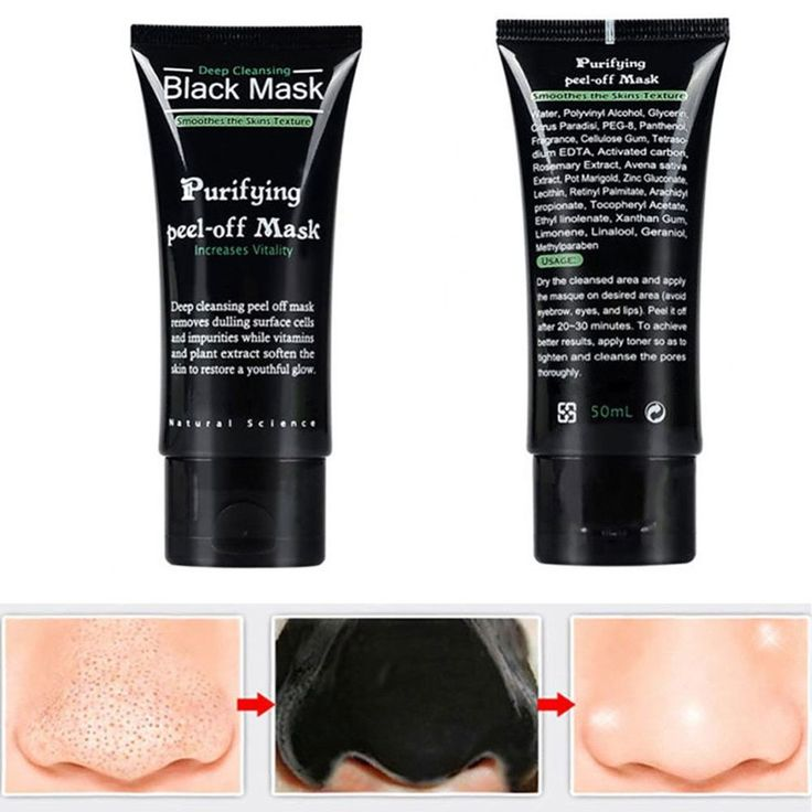 NEW Charcoal Black Mask for Blackhead Removal & Deep Pore Cleansing