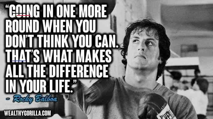 Rockybalboaquotes Rocky Balboa Wow What An Inspiration I Have All The Rocky Films On Dvd Back At Home In England Needless To S I 2020 Balboa Rocky Balboa Rocky