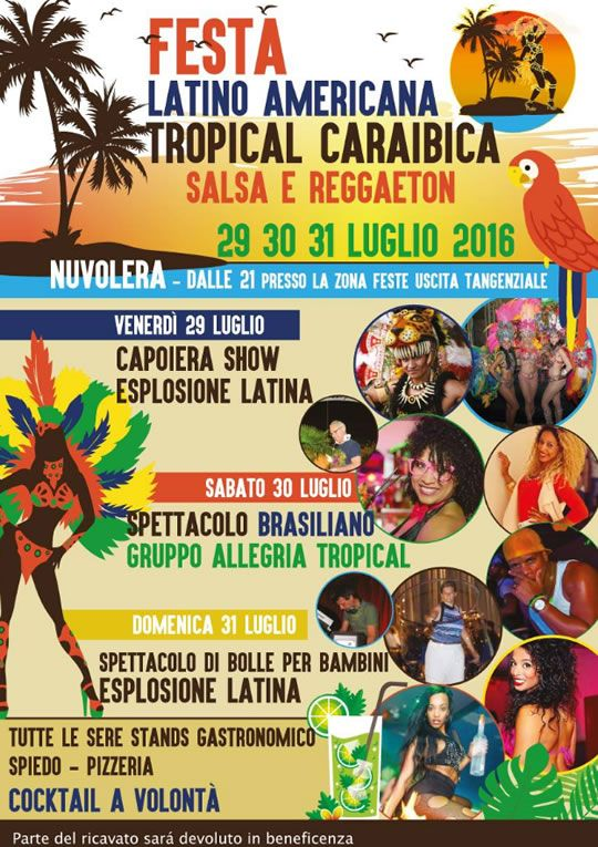 Festa Tropical Caraibica a Nuvolera http://www.panesalamina.com/2016/49985-festa-tropical-caraibica-a-nuvolera.html
