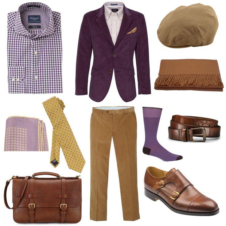 purple mens style