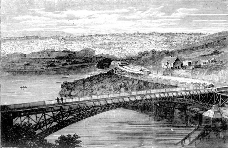 Launceston, from above the bridge over the South Esk.