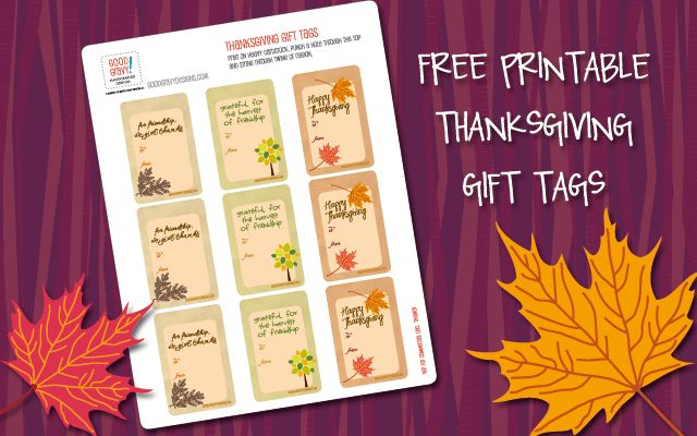 Hello, Good Gravy!: Free printable: Gobble up DIY Thanksgiving gift tags