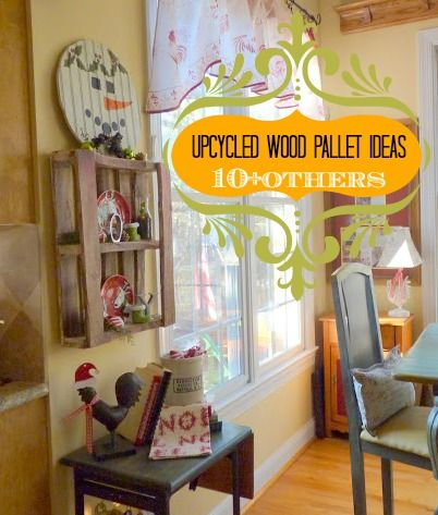 #Upcycled #wood #pallet and 10+ other diy wood pallet ideas that are FREE!