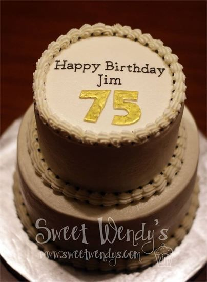 75th Birthday Cake Sweet Wendy S Pinterest