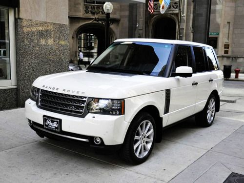 Range Rover; white milk, tinted windows, factory tires classic love dream car