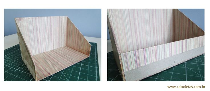 Caixa organizadora de papelão passo a passo