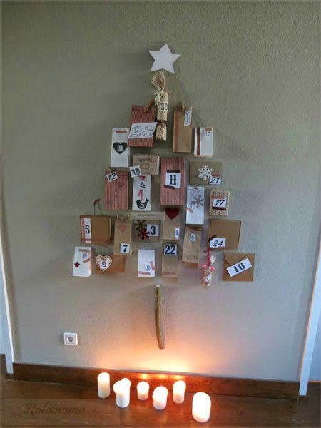 calendario a forma di albero calendario de adviento en forma de rbol