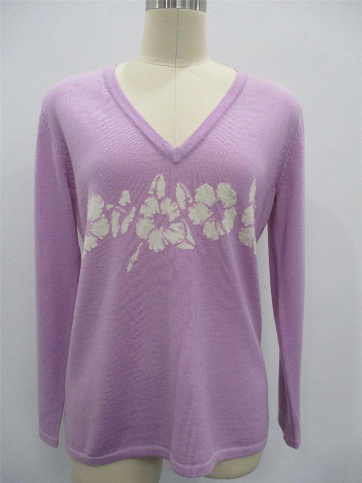ファッションカシミヤセーター 秋ニットレディース 紫 ニット工場