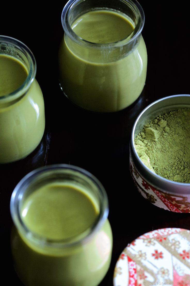 Panna Cotta au Lait de Coco & Thé Matcha {sans œufs, sans lactose, sans sucre raffiné & avec option #vegan} @ Cuisine en Scène, le blog cuisine de Lucie Barthélémy sur le site de Coté Maison