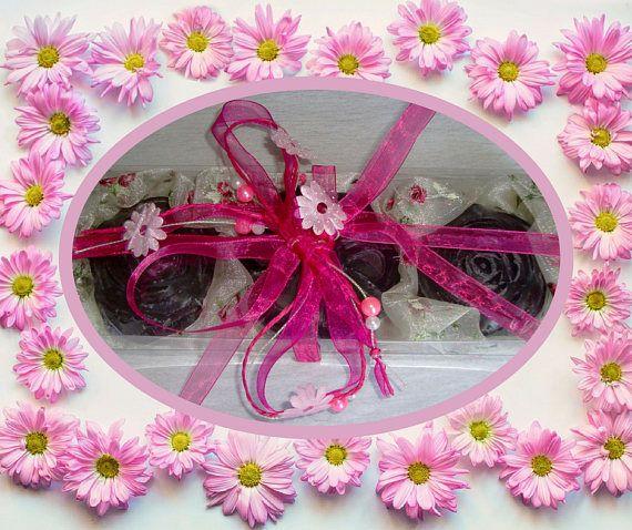 Lavender Elegant Luxury Soaps Gift Box All Natural Glycerin