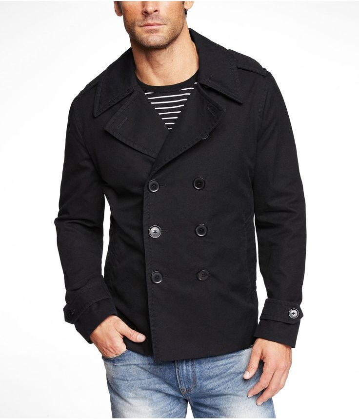 Cotton Pea Coat Men | Down Coat