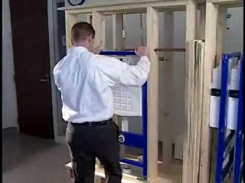 How To Install A Geberit Wall-Hung Toilet Carrier With Flush Actuator