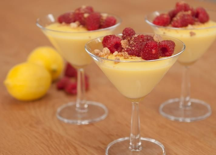 Lemon and raspberry cups recipe