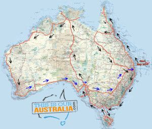 This is the map of our roadtrip in our caravan around Australia. We are leaving in May 2014 with 2 kids, for 2 years.