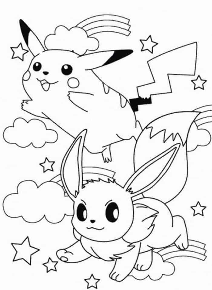 Eevee And Pikachu Coloring Pages 1 Pikachu Coloring Page Pokemon Coloring Pages Pokemon Coloring