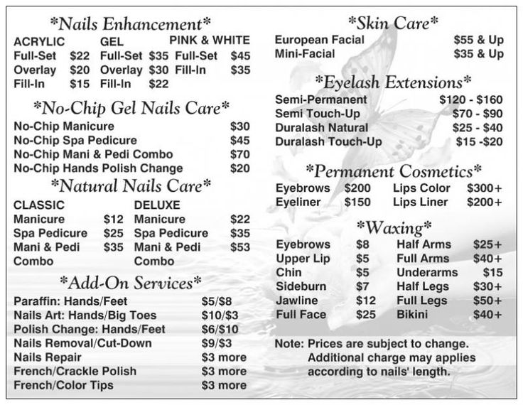 Best 25 nail salon prices ideas on pinterest beauty price list best 25 nail salon prices ideas on pinterest beauty price list ideas beauty bar salon and price list prinsesfo Image collections