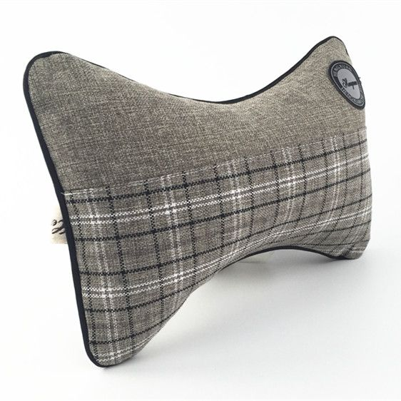 1pcs High Quality Linen Car Headrest Supplies 28*18cm/Neck Auto Safety Pillow Newest 2016 ** Check out this great product.