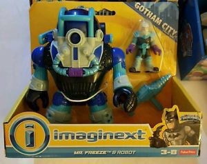 New Imaginext Mr. freeze Robbot!! His arm moves too. I've one seen one at Toys R Us they are pretty new so if you see it buy it! This will be under our tree this year!
