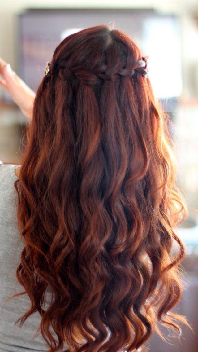 Super 1000 Ideas About Waterfall Braid Curls On Pinterest Waterfall Short Hairstyles For Black Women Fulllsitofus