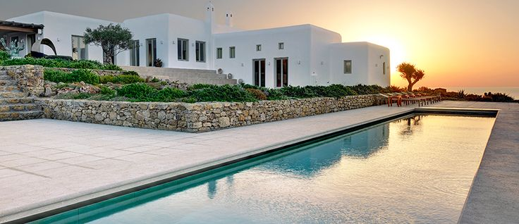 """The new entry Dante. The concept behind the design of this stunning property, perched in an elevated location between the beaches of Super Paradise and Agrari, is best defined with """"the best of both worlds"""". Do you wish to know more about our new property ?? visit..http://www.mykonosvillas.com/our-villas/dante"""