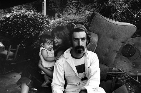 Frank, Gail and Moon Zappa in Laurel Canyon