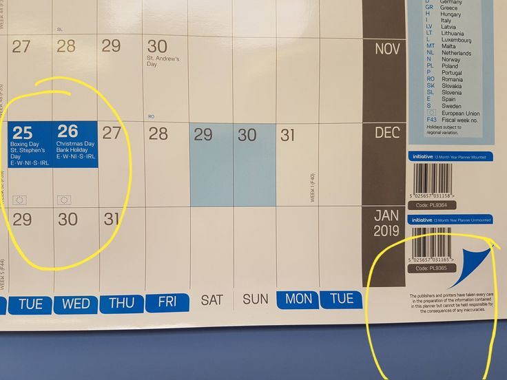 So this is the annual leave calender at my work place. Look at the dates then zoom into that little disclaimer they have put at the bottom. Like they did it on purpose...practical joker calender company?